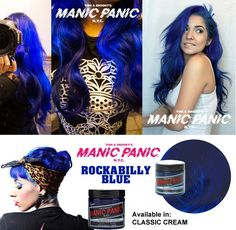 tinte fantasia para pelo color azul manic panic rockabilly blue