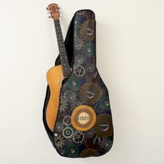 #steampunk #clockworkgears #monogrammed #guitarcase Look for the matching guitar pick!