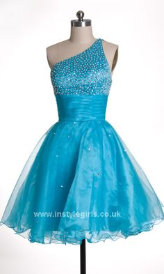 prom dress 2014 trends UK Turquoise One Shoulder Homecoming / Party Dresses