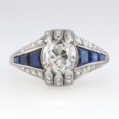 Art Deco 1.65ctw Old European Cut Diamonds & by YourJewelryFinder, $4875.00
