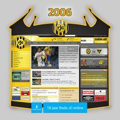 Screen www.rodajc.nl anno 2006.  Het seizoen 2005/2006 werd afgesloten op een 8ste plek in de Eredivisie. In de play-offs ging geel-zwart al in de 1ste ronde onderuit tegen Heerenveen (0-0, 0-1).  In de aanloop naar het nieuwe seizoen '06/'07 speelde de equipe van Huub Stevens een oefenmatch tegen St. Truiden: 0-0.