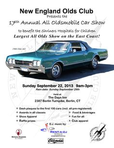17th Annual all Oldsmobile Car Show   9/22/2013