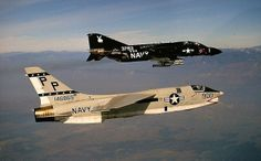 F-8 & F-4 #plane #1960s