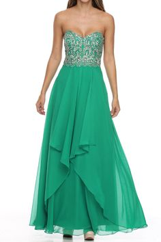 5daca8db4722 Emerald Prom Dress!