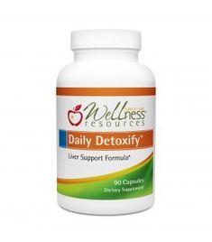 Daily Detoxify Liver Support Supplement for Detoxification with resveratrol, chlorella, silymarin, NAC