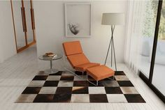 Grey brown cowhide area cowhide patchwork rug