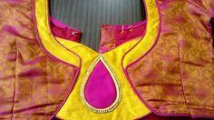 Chudi Neck Designs, Blouse Back Neck Designs, Silk Saree Blouse Designs, Neckline Designs, Patch Work Blouse Designs, Simple Blouse Designs, Salwar Designs, Kurti Neck Designs, Blouse Neck Models
