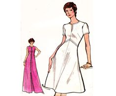 Vogue 8296 A LIne Dress 1970s Vintage by allthepreciousthings, $12.00