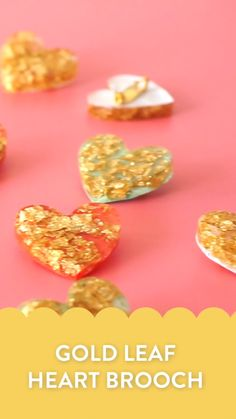 Turn Resin into Heart Brooches