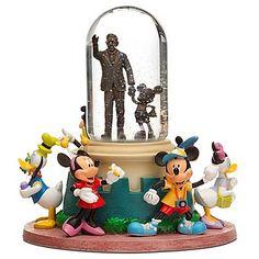 Disney Partners Statue Snowglobe