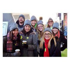 Winter Custom hats for Nurse_com Team  @Judy Alto #GiveThanksWalk in Chicago. Cute picture, thanks! rushordertees.com