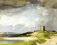 """The Watch Tower"" c.1923, oil - John Alfred Arnesby Brown (1866-1955)"