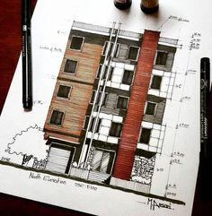 _ • TAG YOUR ARCHITECTURE FRIENDS TO SEE THS WORK  by @m.ansari.architect  . #architecture #arquitectura  #sketch  #scetch  #design  #art . • Follow @arch_cad for more daily sketchs . #sketchbook ✏❤