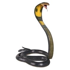 King Cobra Snake, Aquarium Stand, Outdoor Garden Statues, Amazing Places On Earth, Animal Statues, Snake Plant, Scary, It Cast, Hand Painted