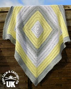 Superbly Simple Baby Blanket Crochet pattern by Keep Calm and Crochet On UK