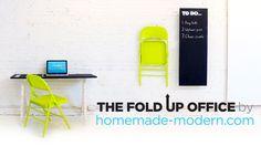 DIY Fold Up Office