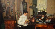 Breakfast I (Frokost I)- Nils Gustav Wentzel 1882