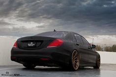 <b>Matte Black Mercedes-Benz S550</b> – ADV10 Track Spec CS Wheels