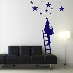 Sticker L'enfant aux étoiles. Création Paristic