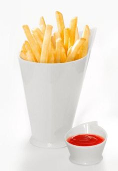 French Fries Cup and Sauce Dish