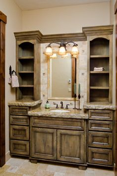 Love the cabinet color and countertop color.