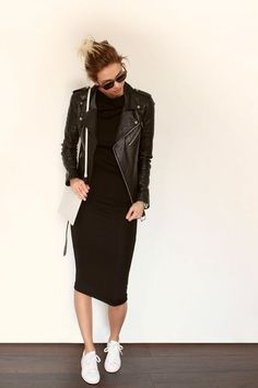 All black with white sneaks - Miladies.net