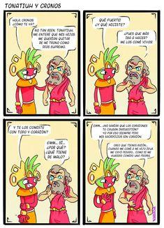 Comics Mexico, Aztec Art, Mundo Comic, Funny Art, Funny Comics, Hetalia, Lol, Culture, Cartoon