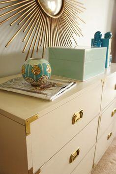 Cream Campaign Dresser   love a campaign dresser... want want want