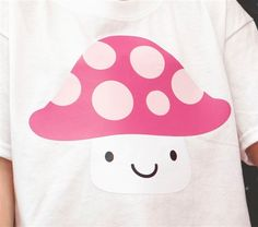 Mushroom T-shirt made with Cricut Iron-on. Make It Now with the Cricut Explore machine in Cricut Design Space.