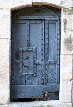 Blue and ancient Entry Doors, Entrance, Entryway, Front Doors, Door Knobs And Knockers, Door Hinges, Cool Doors, Unique Doors, Portal