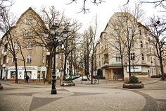 Cosima Platz  Friedenau # Berlin  I'm gonna cry, this is the movie theater I went to and lived in the street to the very right side of the pic. Sieglinde Strasse