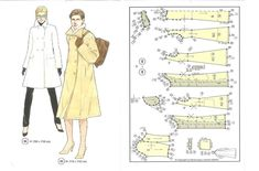 manteau Vintage Sewing Patterns, Doll Patterns, Couture Vintage, Pattern Drafting, Sewing Clothes, Dress Making, American Girl, Eh Bien, My Style