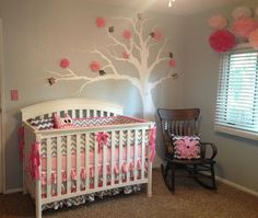 Project Nursery - Pink and Gray Girl Nursery Room View