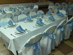 Folding Chair Cover Rental - Home Furniture Design Chair Cover Rentals, Folding Chair Covers, Home Furniture, Furniture Design, Retirement Parties, Cover Design, Table Decorations, Chairs, Party Ideas