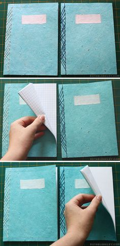 Each of the two journals in this set had different paper - graph paper in one, blank paper in the other -  Travel Journal with Case by Ruth Bleakley