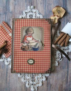 Grandma's recipe book blank recipe book rustic by BethStyleBook