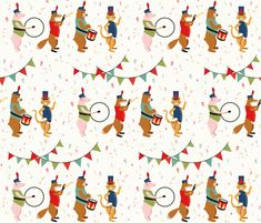 Pomp and Circumstance fabric by runningriverdesign on Spoonflower - custom fabric ~ NUMBER 7 of the Library Design Contest on Spoonflower. Congratulations Gabrielle!