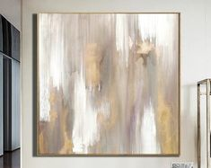 Large Abstract Painting Gold Leaf Large Wall Art Gold Painting Modern Art Original Painting Textured Painting On Canvas by Julia Kotenko Large Canvas Art, Large Painting, Oil Painting Abstract, Abstract Canvas, Acrylic Painting Canvas, Wall Canvas, Abstract Paper, Abstract Flowers, Grand Art Mural