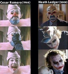 Joker; then, now. (Batman)