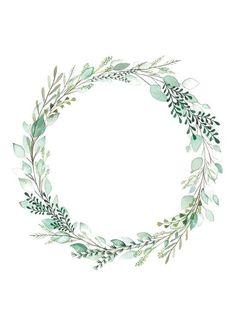Faire-part mariage botanique vegetal - Art du Papier Paris - Best Pins Live Frame Floral, Flower Frame, Flower Boarders, Flower Circle, Diy Planner, Papier Kind, Botanical Wedding Invitations, Floral Invitation, Diy Art