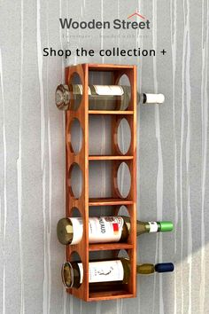 Horizontal beauty! The sleek structure of Osborn wine rack allows you to stack the bottles horizontally. Osborn bar range sports an oval-shaped on either side of it. Osborn wine rack is designed to make a style statement piece in your home.
