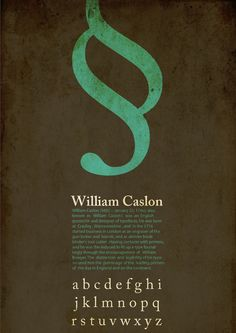 Caslon Font Posters by Hadeel Alawneh, via Behance
