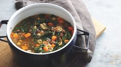 Autumn vegetables take on a deep sweetness after the first frost, so let them shine in this hearty soup. If you like a little heat, swap in spicy Italian sausage for the sweet.