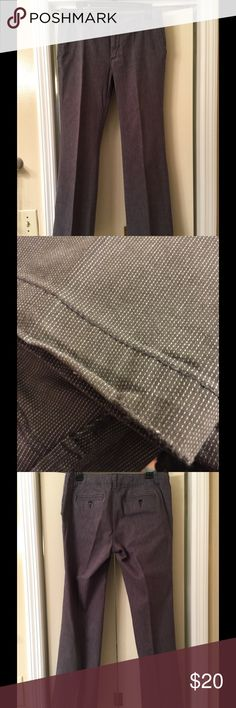 Gap size 8A (ankle)dress pants/trousers Gray with white stitching- looks brown in certain lighting but I took them outside and they are gray.  Size is 8A- for the short folks!  These are used but in great condition. GAP Pants Ankle & Cropped