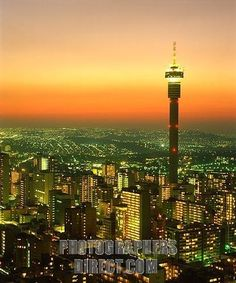 Johannesburg, South Africa at dusk.. home of the nicest pizza i've ever had!