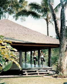 Practice yoga in the yoga pavilion as a holistic approach to wellness at Como Shambhala in Bali