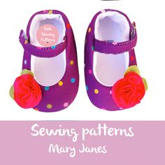 Sewing PAtterns Baby shoes Mary janes by KidsSewingPatterns on Etsy
