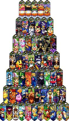 All Super Smash Bros. U Characters! (Except Mewtwo) - Video Games Super Smash Bros Brawl, Nintendo Super Smash Bros, Super Mario Bros, Super Smash Bros Characters, Nintendo World, Nintendo Sega, The Legend Of Zelda, Video Game Art, Video Games