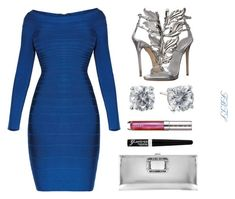 She's Bad  I Know She's Bad by flybeyondtheskies on Polyvore featuring Hervé Léger, Giuseppe Zanotti, Roger Vivier, Rimmel and By Terry