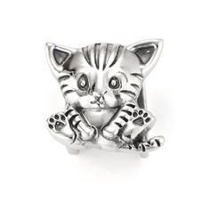 Glamour Puss Slide Charm - Sterling Silver - $40 | Lori Bonn #myholidaywishlist @Lori Bonn Design